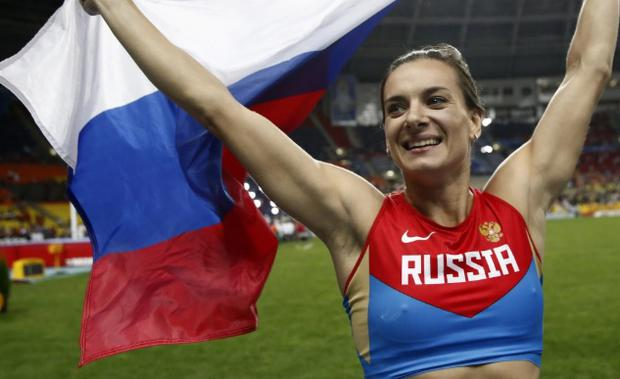 Russian track and field athletes have not been able to compete under their own flag since 2015 CREDIT: AFP