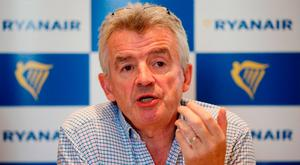 Framework: Ryanair, led by CEO Michael O'Leary, has agreed a deal that will boost German pilots' pay and conditions. Photo: PA