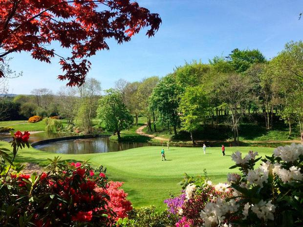 Tee time: The 8th hole at one of the two golf courses at the Druids Glen resort