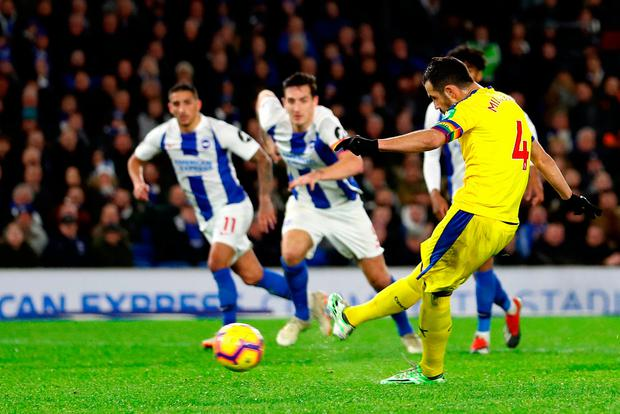 Brighton substitutes star as ten men down Crystal Palace
