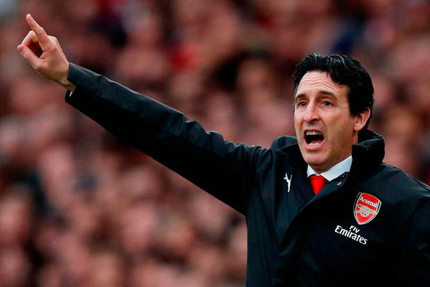 Top gun: Unai Emery is revitalising Arsenal with a mixture of passion, pace and superb organisation. Photo: AFP/Getty Images