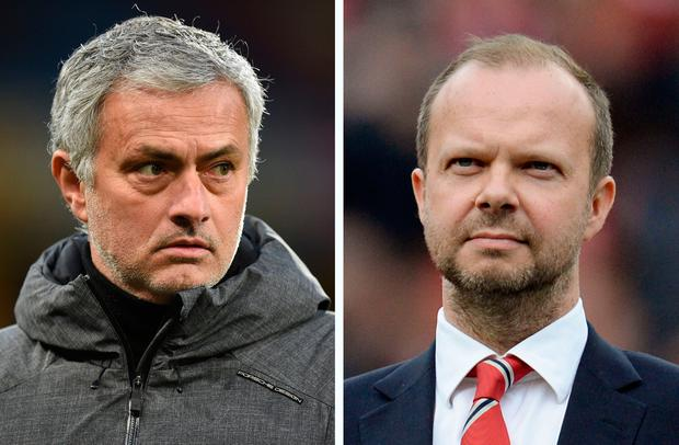 Jose Mourinho and Ed Woodward are struggling to restore Manchester United's fortunes. Photo: AFP/Getty Images