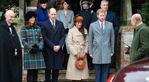 United they stand: Kate, William, Meghan and Harry attending Christmas service at Sandringham last year. Photo: Chris Jackson/Getty Images