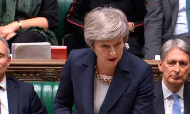 Prime Minister Theresa May speaks in the House of Commons at the start of a five-day debate on the European Union Withdrawal Agreement. Photo: PA Wire