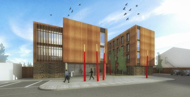 An artist impression of the student accommodation in Cork