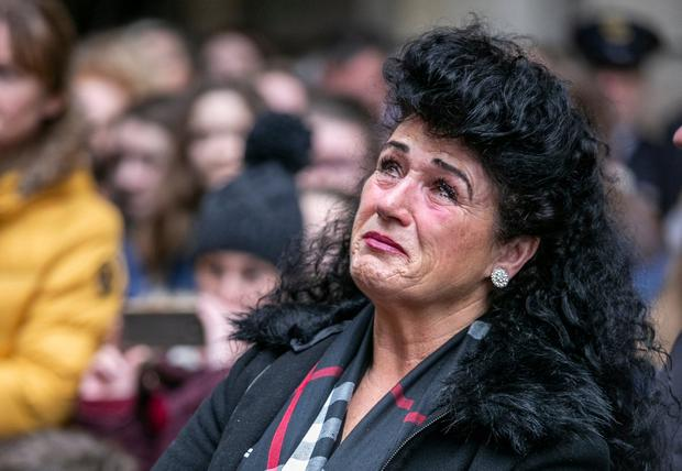 Heartbreak: Helen Maughan, mother of Willie Maughan, at the Missing Persons Day event in Dublin. Photo: Kyran O'Brien