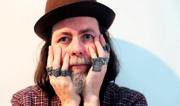 Movie magic: Pierce Healy has designed and made 10 rings for 'Lord of the Rings' director Peter Jackson's 'Mortal Engines'. Photo: Brian Lawless/PA Wire