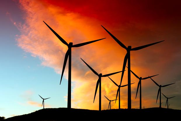 Support for wind farms is growing. Stock image