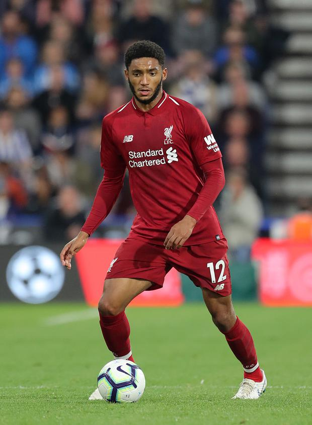 Joe Gomez suffered a fractured leg (Richard Sellers/PA)
