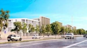 An artist's impression of the development on the Montrose site in Donnybrook