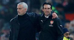 Both Jose Mourinho and Unai Emery are rebuilding despite this being the Manchester United manager's third season at the club. Photo: Darren Staples/Reuters
