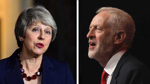 Prime Minister Theresa May and Labour leader Jeremy Corbyn (PA)