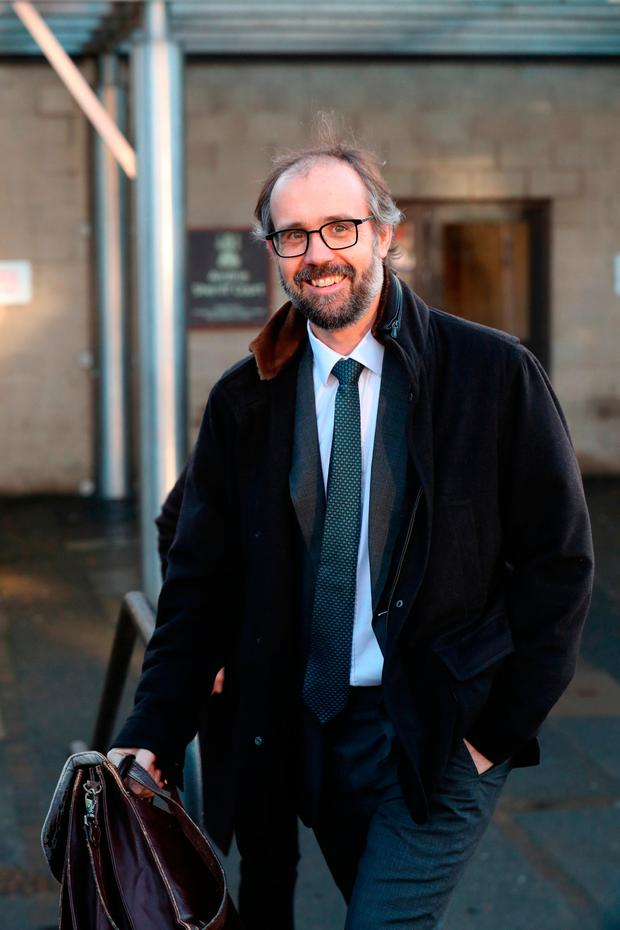 Neil Murray, the husband of author JK Rowling, leaves Airdrie Sheriff Court. Photo: Andrew Milligan/PA Wire