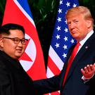 Summit: US President Donald Trump (right) and North Korea leader Kim Jong-un. Photo: AFP/Getty Images