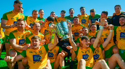 Donegal celebrate Ulster title glory this year