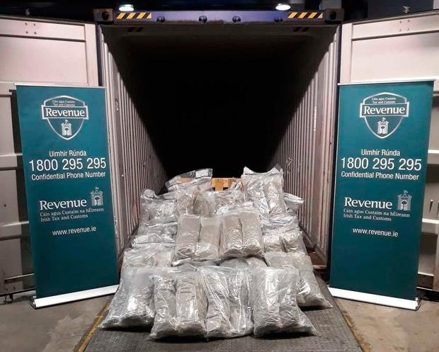 The drugs have an estimated street value of €1.36 million