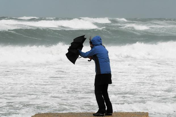 Status yellow wind warnings are in place for a number of counties across the country. (stock photo)