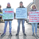 Highlighting housing issues: Protesters from Dundrum Housing Action at the official opening of 44 new social houses at Rosemount Court, Dundrum, Dublin, yesterday. Photo: Colin Keegan, Collins Dublin