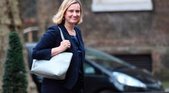 Work and Pensions Secretary Amber Rudd who has voiced support for a Norway-style model as an alternative to the Prime Minister's Brexit deal if the Withdrawal Agreement is thrown out by MPs. Photo: Stefan Rousseau/PA Wire