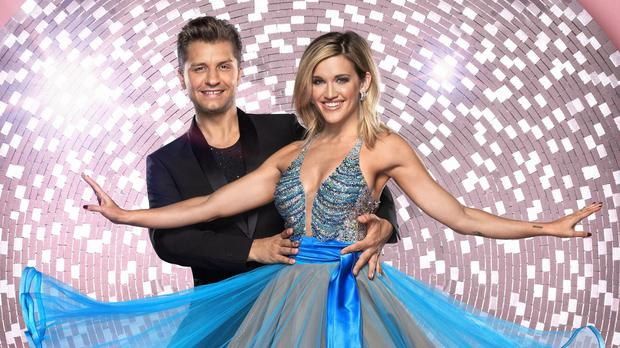 Ashley Roberts with her dance partner Pasha Kovalev. (Ray Burmiston)