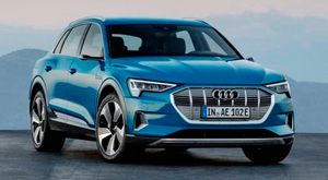 FLAGSHIP: Audi e-tron has a range of 400km