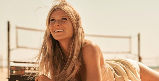 SMOOTH OPERATOR: Gwyneth Paltrow in a $695 Marc Jacobs slipdress. And you can probably get it on Goop