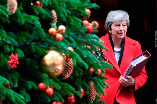 An embattled Theresa May leaves 10 Downing Street to face her critics. Picture: PA