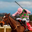 Min, with Ruby Walsh up, on their way to winning the John Durkan Memorial Punchestown Steeplechase at Punchestown Racecourse in Naas, Co. Kildare. Photo by Seb Daly/Sportsfile