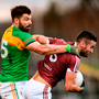 Noel Mulligan of Westmeath in action against Daniel St Ledger of Carlow. Photo by Stephen McCarthy/Sportsfile