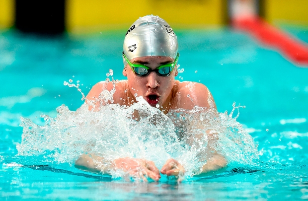 Eoin Corby in action at the Irish Short Course Swimming Championships at Lagan Valley. Photo by Oliver McVeigh/Sportsfile