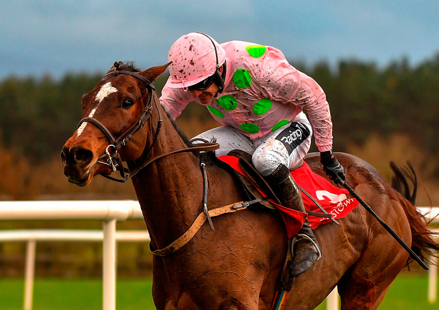 DYNAMIC DUO: Min and Ruby Walsh on the way to victory at Punchestown. Photo by Seb Daly/Sportsfile