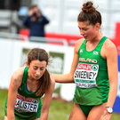 Sorcha McAlister, Fian Sweeney. Photo: Sportsfile