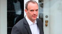 Not firm enough: Former UK Brexit secretary Dominic Raab. Picture: PA