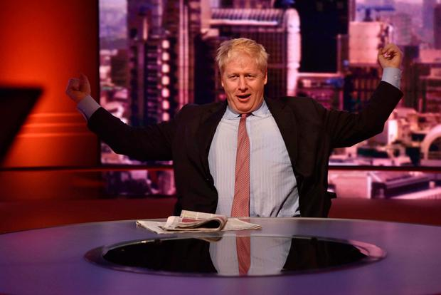 Dissenting voice: Boris Johnson stretches in the studio before going live on BBC One current affairs programme 'The Andrew Marr Show'. Photo: Reuters