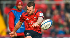 Munster's JJ Hanrahan will make his 100th appearance for the province. Photo: Sportsfile