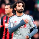 Liverpool Mohamed Salah may need to deliver a big performance to get his side through