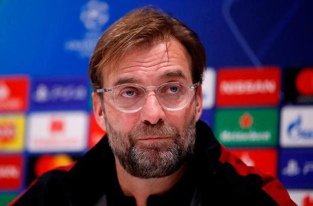 Liverpool manager Juergen Klopp during a press conference. Action Images via Reuters/Carl Recine