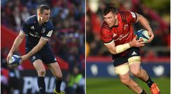 Johnny Sexton (left) and Peter O'Mahony (right).