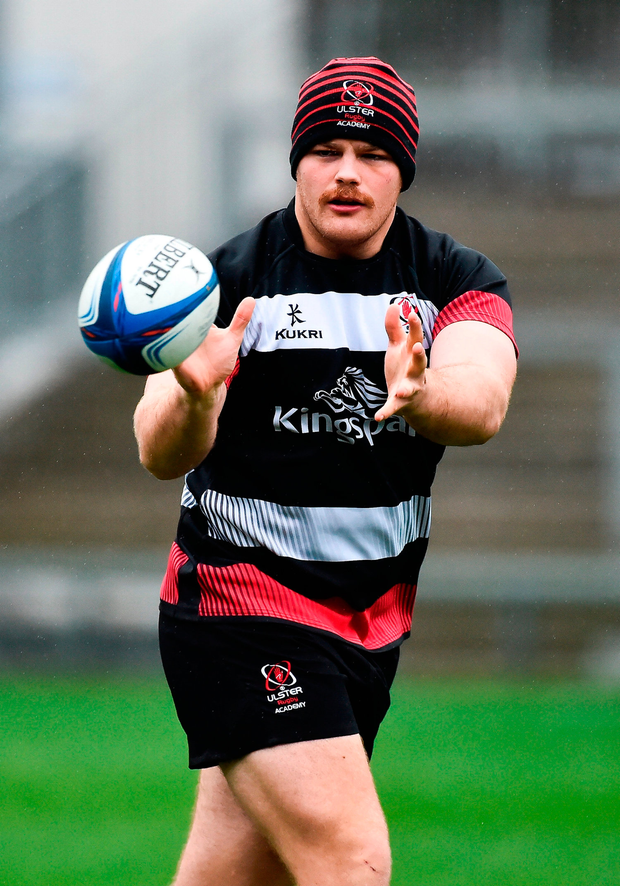 Eric OSullivan during the Ulster Rugby Captain's Run at the Kingspan Stadium in Belfast. Photo: Sportsfile