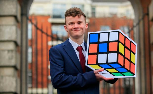 King of the cube: Cathal Seabrook, of Clarehall, Dublin