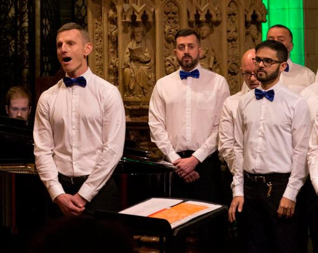 The Dublin Gay Man's Chorus perform
