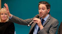 Simon Harris says buying an illegal abortion pill will no longer be necessary. Photo: Damien Eagers