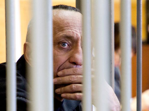 'Angarsk Maniac': Mikhail Popkov in court in Irkutsk, Russia, yesterday. Photo: AP