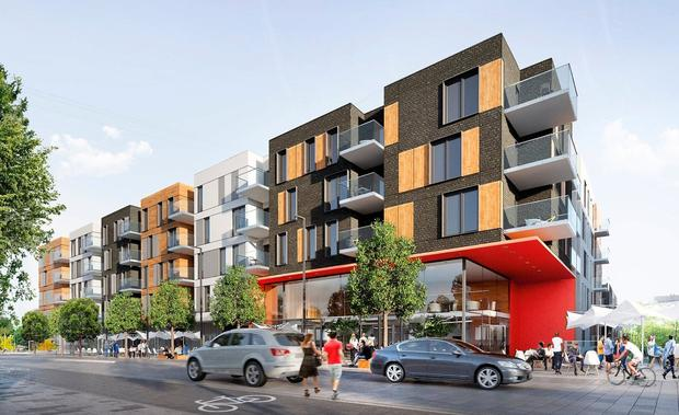 Build to rent: An artist's impression of some of the new apartments being built in Cherrywood, south Dublin
