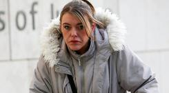 11/12/2018. Claire McGrath, the former partner of murder accused Keith Connorton, arrives at the Central Criminal Court in Dublin today where she gave evidence in his trial. Connorton has pleaded not guilty to the murder of Graham McKeever at Deerpark Avenue in Tallaght in February 2018. Pic Collins Courts.