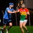 Jack Murphy of Carlow in action against Seán Moran of Dublin