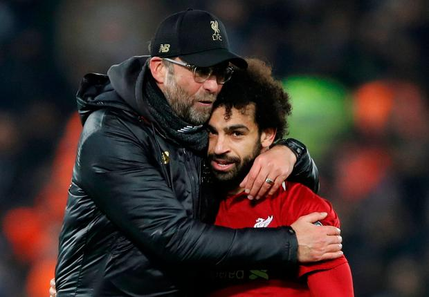 Liverpool boss Jurgen Klopp baning on Mohamed Salah for goals in the title race (Action Images via Reuters/Carl Recine)