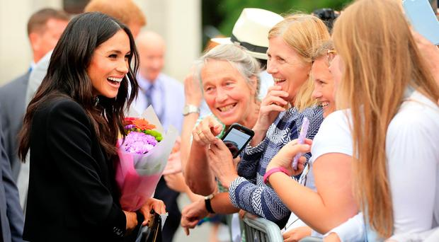 Meghan Markle meets fans in Dublin. Picture: Gerry Mooney