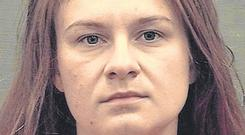 Charges: Maria Butina has been in custody since July. Photo: Alexandria Sheriff's Office/Handout via REUTERS