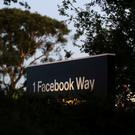 A Facebook address sign is seen at Facebook headquarters in Menlo Park, California, on Wednesday, October 10, 2018. REUTERS/Elijah Nouvelage/File Photo